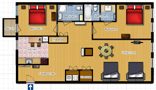 Your Apartments - Riverview Apartment 11 Floor plan