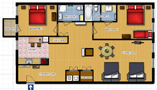 Your Apartments - Riverview Apartment 4D Floor plan
